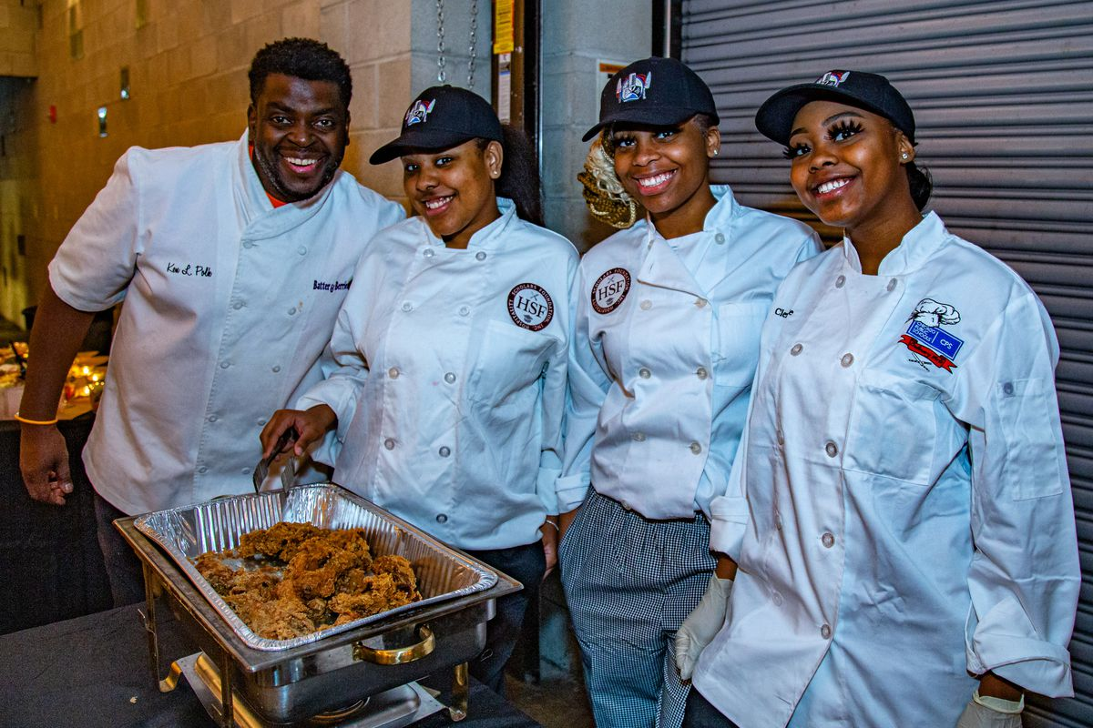 Some Hospitality Scholars Foundation alums have gone on to with local chefs such as Ken Polk (far left) of Lincoln Park's Batter & Berries.