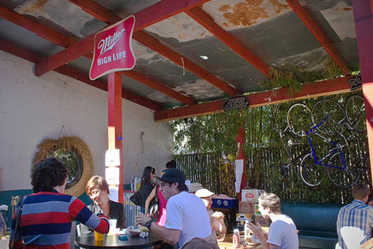 The patio at Thee Parkside in Potrero Hill.