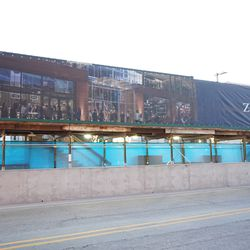 Hotel Zachary banners, along Clark Street