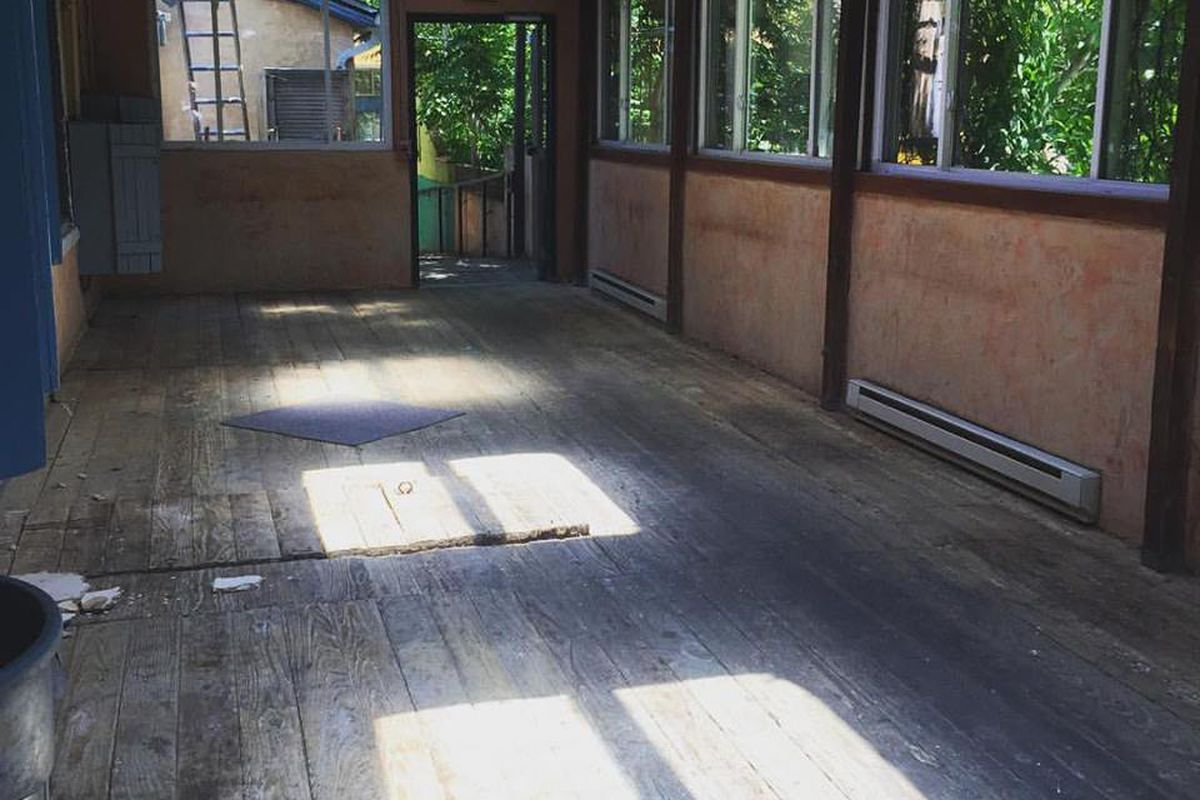 Back patio at the upcoming Clyde