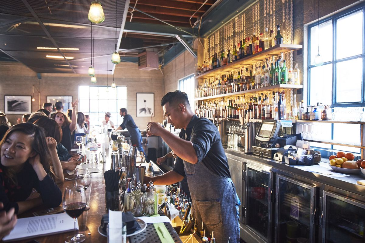 Rose Cafe in Venice plays host to a number of waiting drinkers.