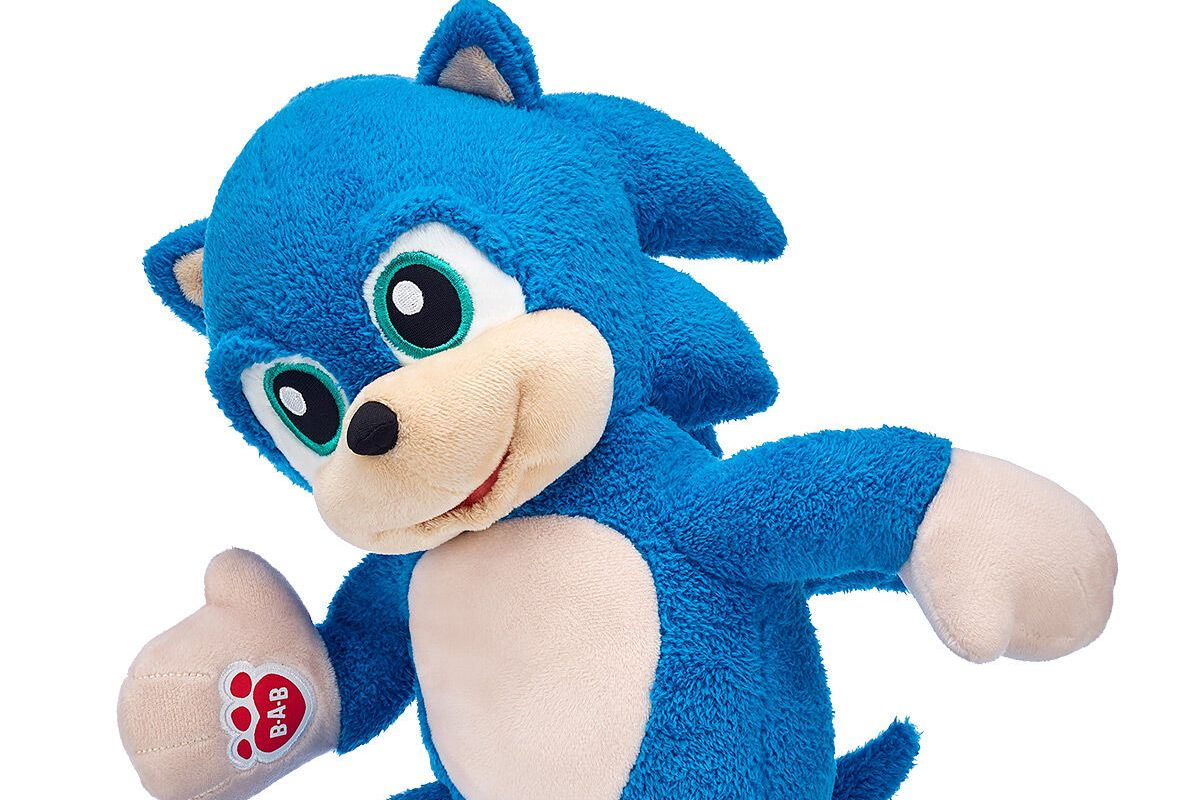 Build A Bear Sonic The Hedgehog Stuffed Animal Comes With Bare