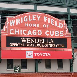 The famous Wrigley Field marquee