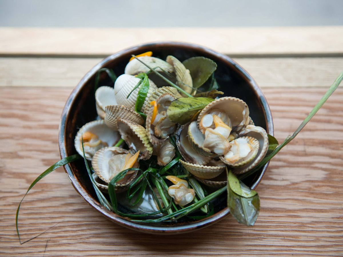 Best seafood restaurants in London: cockles at Kiln in Soho