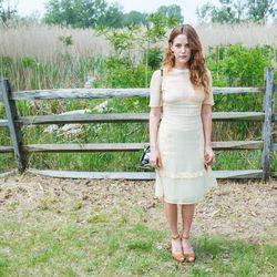 Riley Keough went buttoned-up for the Classic...