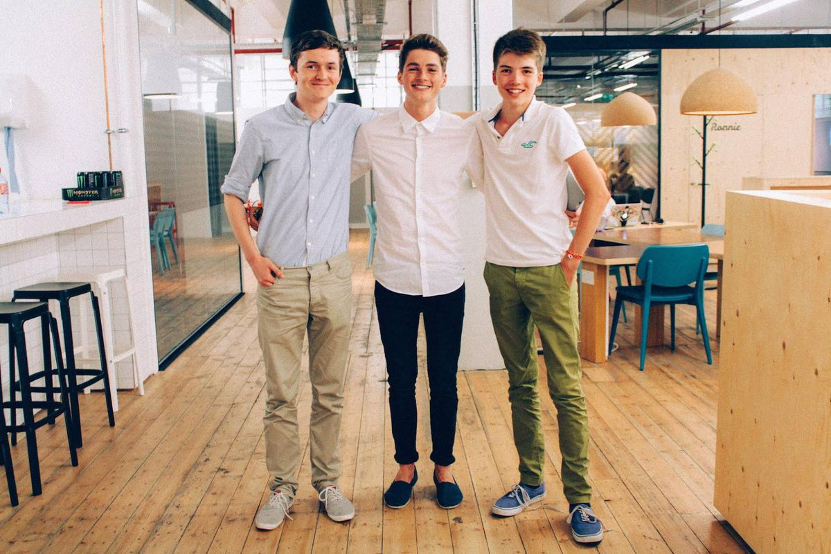 From left to right: James Anderson, Finn Harries, and George Streten