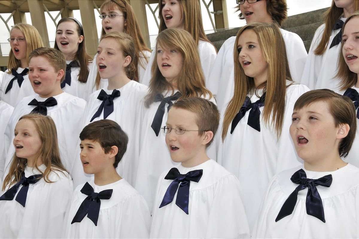 The Salt Lake Children's Choir, shown at a performance at the S.L. Main Library, will present its spring concert on May 4 and 5 at the First Presbyterian Church in Salt Lake City.