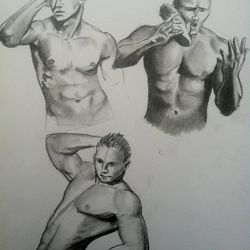 Figure drawings BYU undergraduate Taylor Holt submitted with her application to the school's competitive animation program