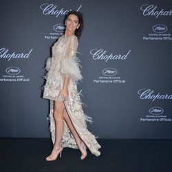Elie Saab and Jimmy Choo were a show-stopping combo for Monday's Chopard party.