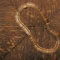 """Late 19th Century French 18K Gold Filigree Collar Necklace, <a href=""""http://eriebasin.com/a_french18k0613.html"""">$3,750</a>"""