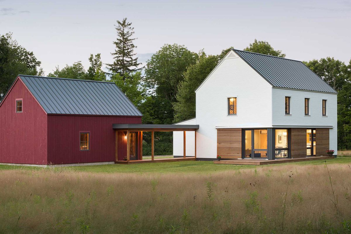 Prefab homes from go logic offer rural modernism for Prefab cottage plans
