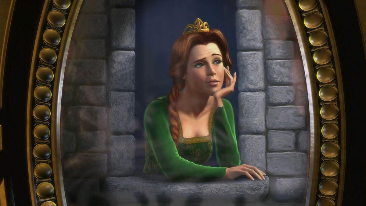 Princess Fiona viewed through the Magic Mirror.