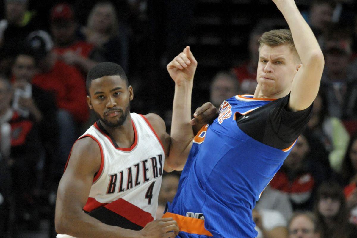 NBA: New York Knicks at Portland Trail Blazers