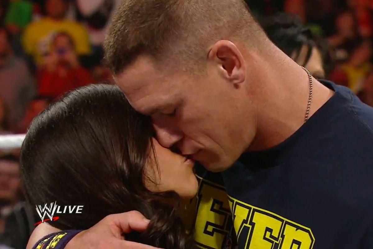 Aj lee and john cena kiss