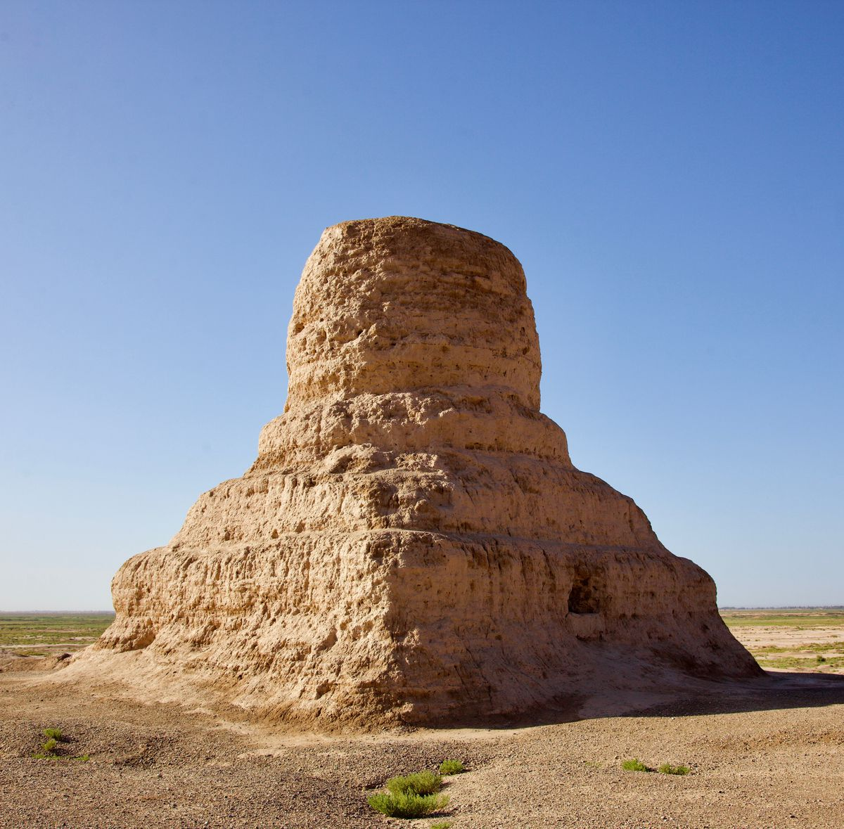 A thousand-year-old Buddhist stupa near Kashgar, China.