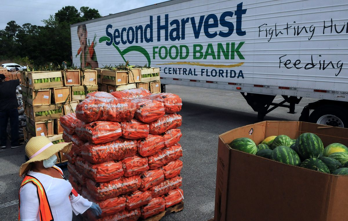 Second Harvest Food Bank Holds Mobile Food Drop In Kissimmee