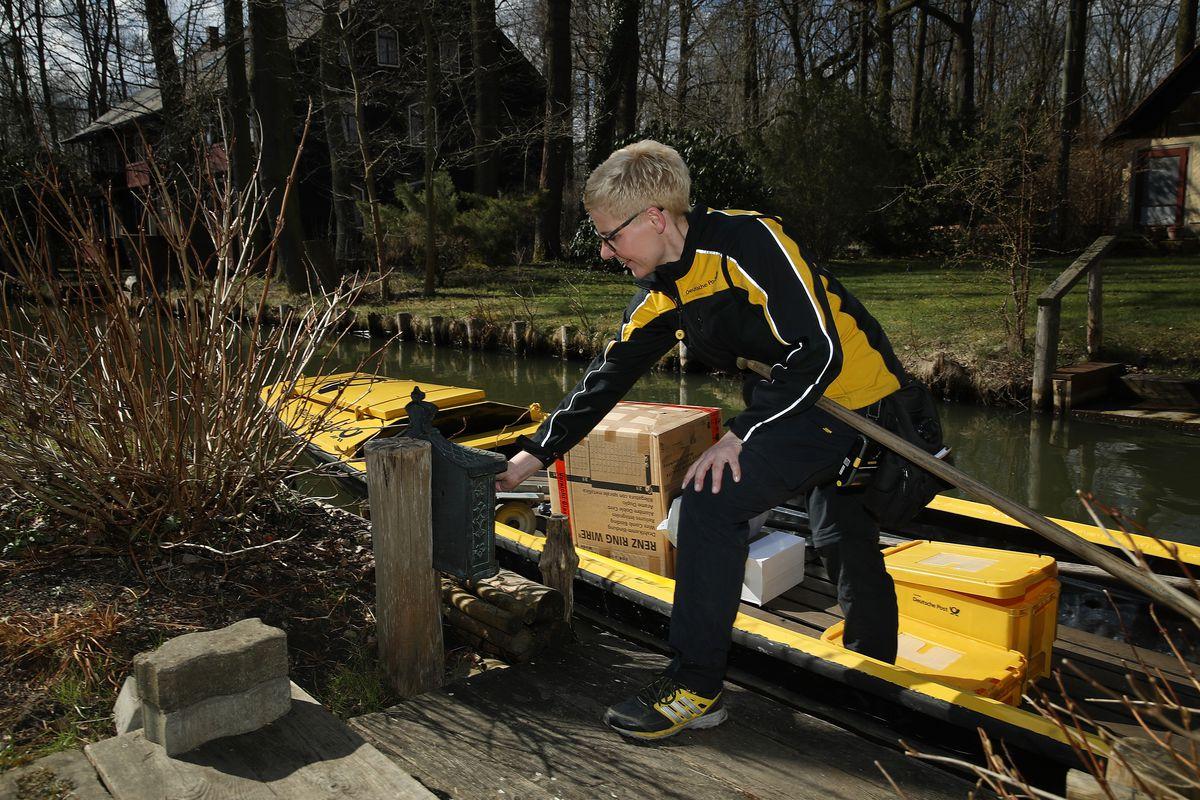 Deutsche Post Deliver Via Canoe In The Spreewald Canals