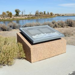 This historical marker is situated on the Mormon Pioneer Trail in Wyoming on the bank of the Green River. Near here, Sam Brannan encountered Brigham Young to discuss their final destination.
