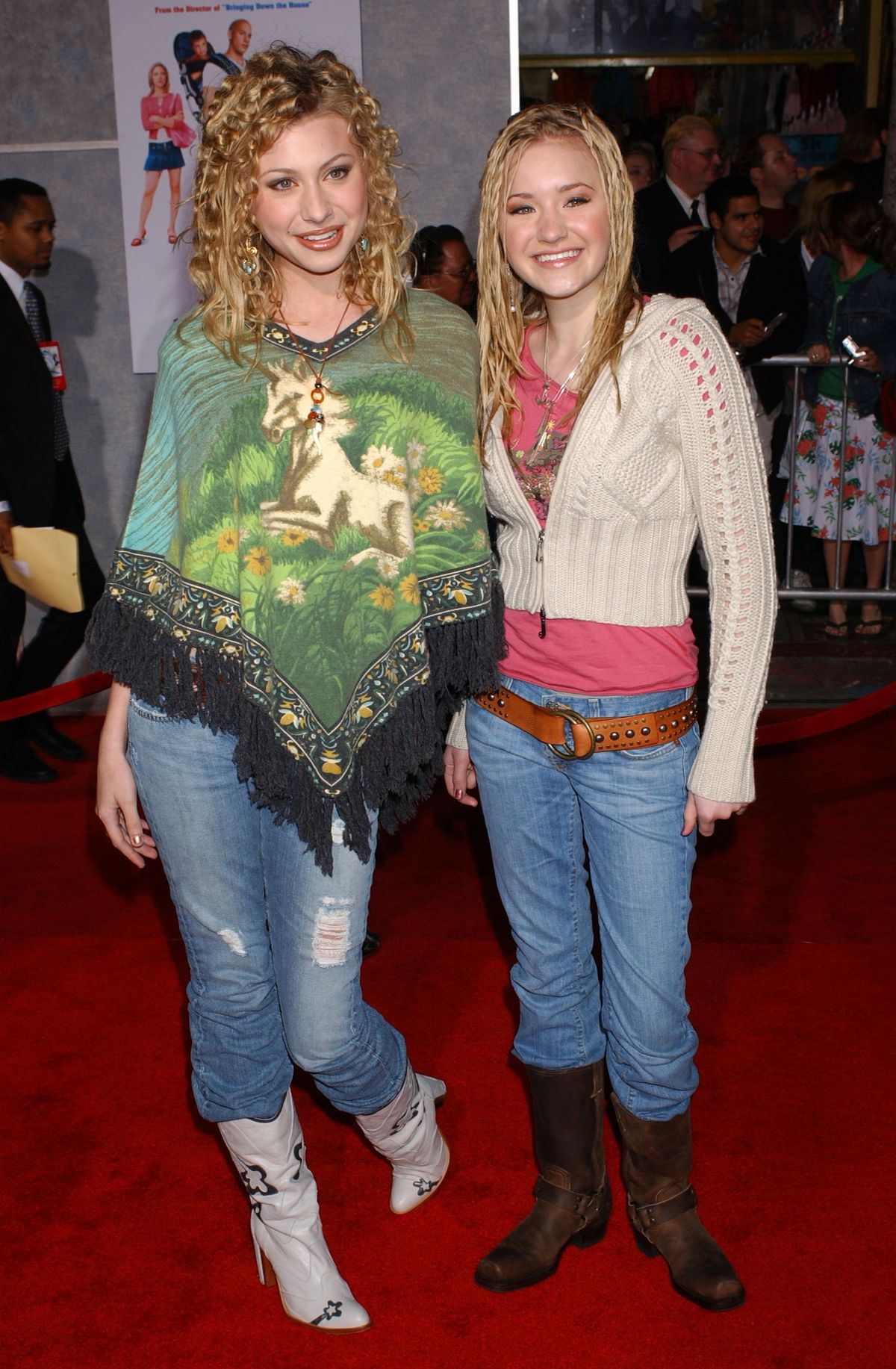 Aly and AJ at the premiere of The Pacifier in 2005.