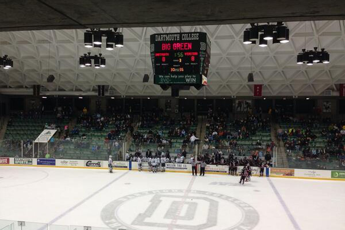 It's not often that hockey fans look up at a scoreboard and see 8-8.