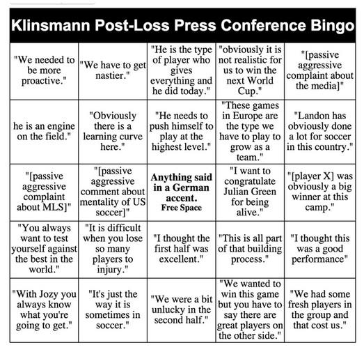 klinsy bingo