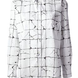 "Cracked print shirt, <a href=""http://www.farfetch.com/shopping/women/jean-paul-gaultier-cracked-print-shirt-item-10628796.aspx?storeid=9488"">Jean Paul Gaultier</a>, $683"
