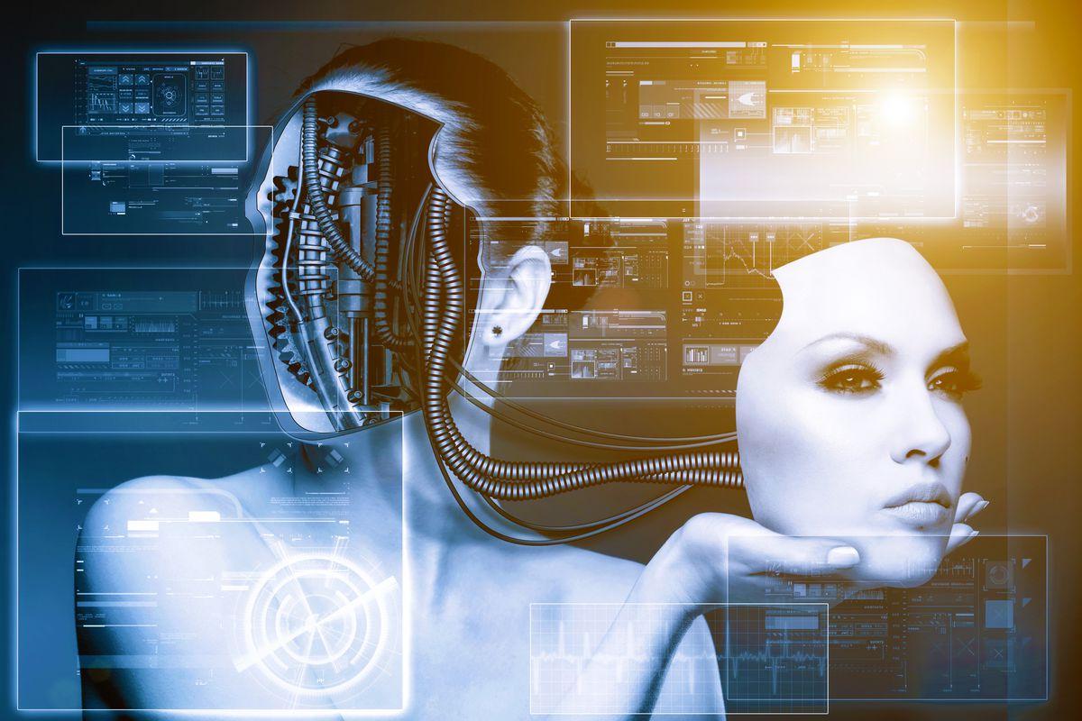 Cyborg robot bionic woman