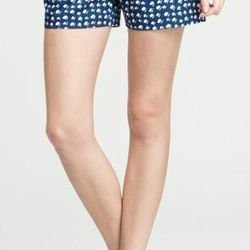 """<a href=""""http://www.anntaylor.com/ann/product/AT-Weddings-Events/AT-Honeymoon/Falling-Imprint-Cotton-Side-Zip-Shorts/278915?colorExplode=false&skuId=11515982&catid=cata000048&productPageType=saleProducts&defaultColor=1166"""">Cotton Side Zip Shorts</a>, $34."""
