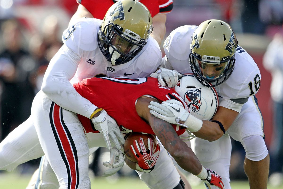 Pitt's defense will be counting on Jarred Holley and Todd Thomas (Photo by Andy Lyons/Getty Images)