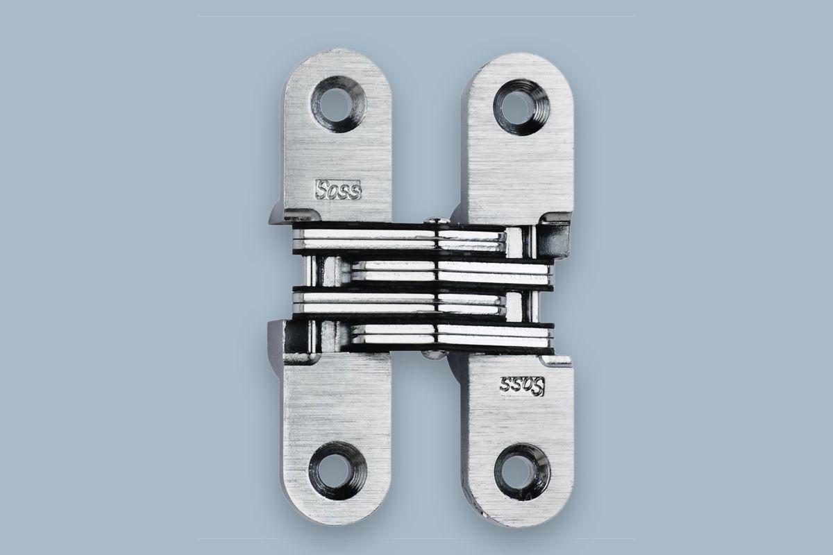 SOSS 5/8 in. x 2-3/4 in. Satin Chrome Invisible Hinge; $ Home Depot