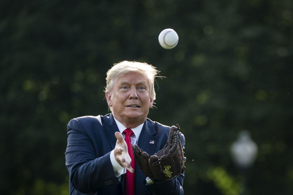 President Trump Marks Major League Baseball's Opening Day