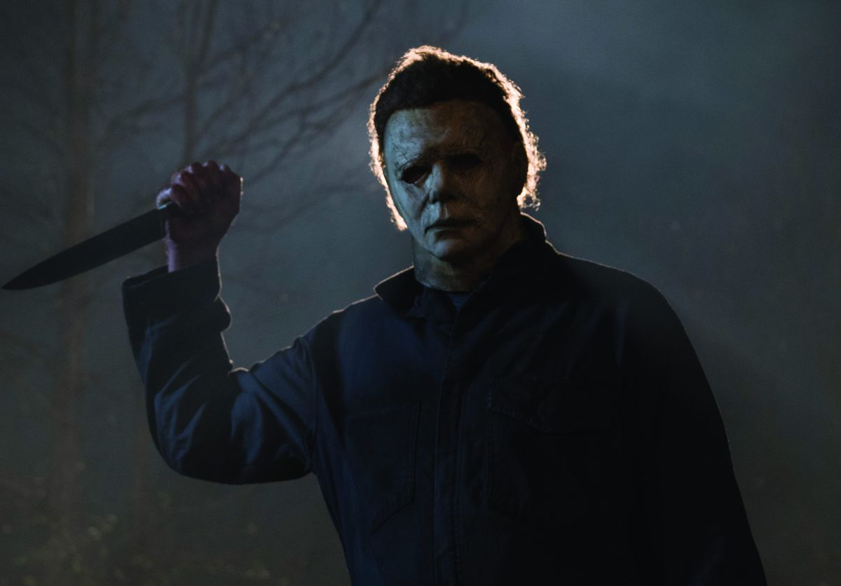 """Nick Castle, who played the killer Michael Myers in the original """"Halloween,"""" wears the mask again in the new movie.   Universal Pictures"""