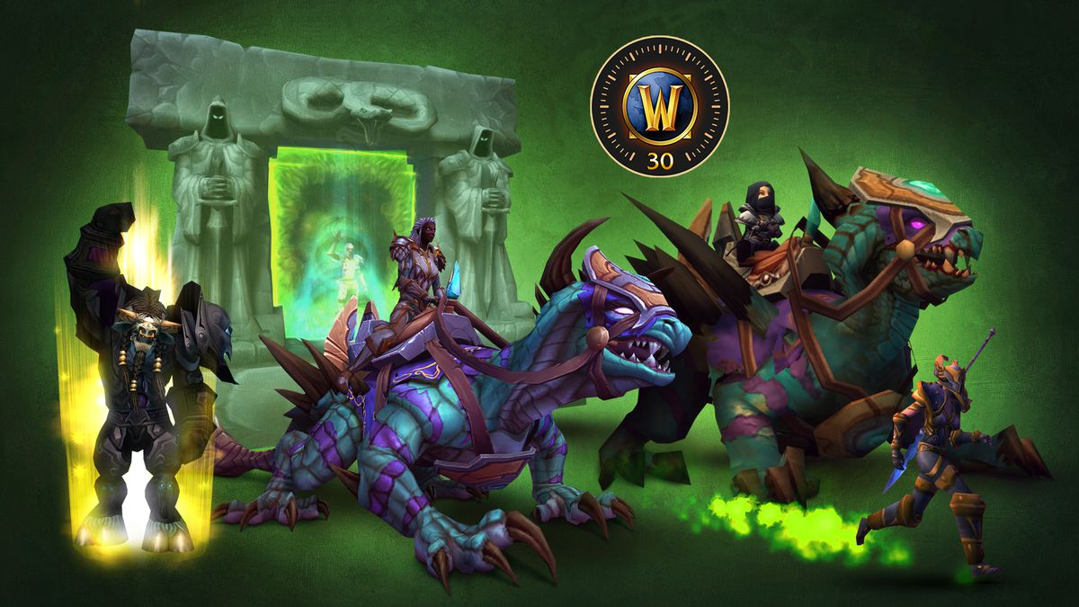 World of Warcraft: Burning Crusade Classic - an ensemble of the items included in the digital collector's edition, including two phase hunter brackets, a new Hearhtstone and a level boost.