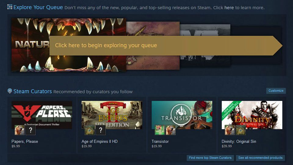 Steam - Discovery Update