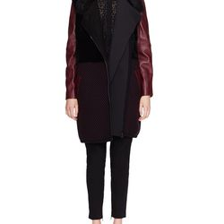 """Shearling coat with leather sleeves, $300 (was $2,040) via <a href="""" http://www.gilt.com/brand/ohne-titel/product/1054208216-ohne-titel-shearling-leather-sleeve-coat"""">Gilt</a>"""