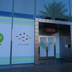 The wrap is up around the future home of Pinkberry on the Strip.