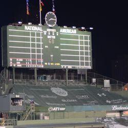 8:16 p.m. Center field scoreboard -