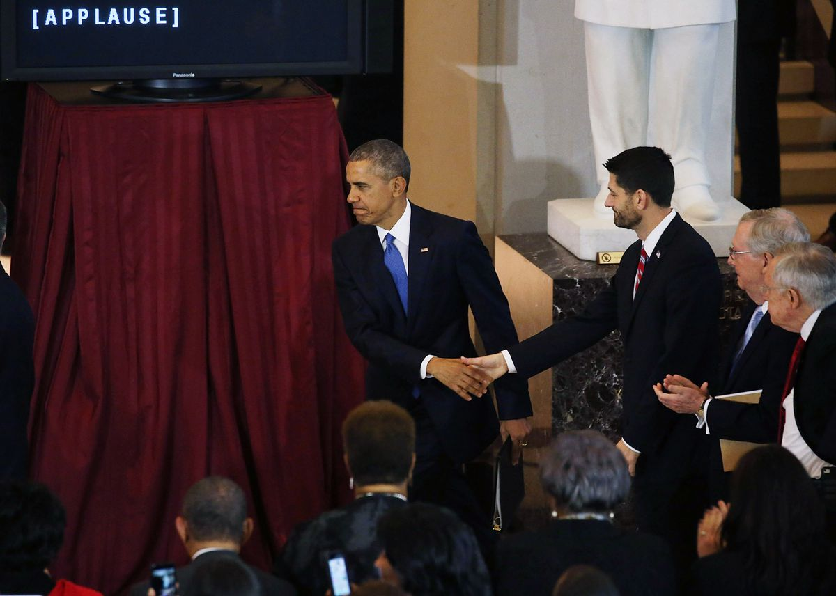 Obama, House And Senate Leaders Hold Ceremony To Commemorate The 150th Anniversary Of Ratification Of Constitution To Abolish Slavery