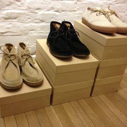 Suede desert shoes, $129 (originally $430), and suede tennis shoes, $84 (originally $280)