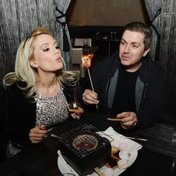 Holly Madison and Pasquale Rotella at N9NE Steakhouse. Photo: Denise Truscello/WireImage