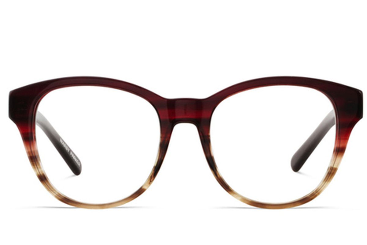 "Image via <a href=""http://www.warbyparker.com/womens-eyewear-tenley-eyeglass-frame-burgundy-fade"">Warby Parker</a>"