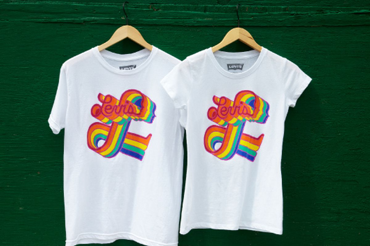 T-shirts from the Levi's Pride collection. Courtesy photo.