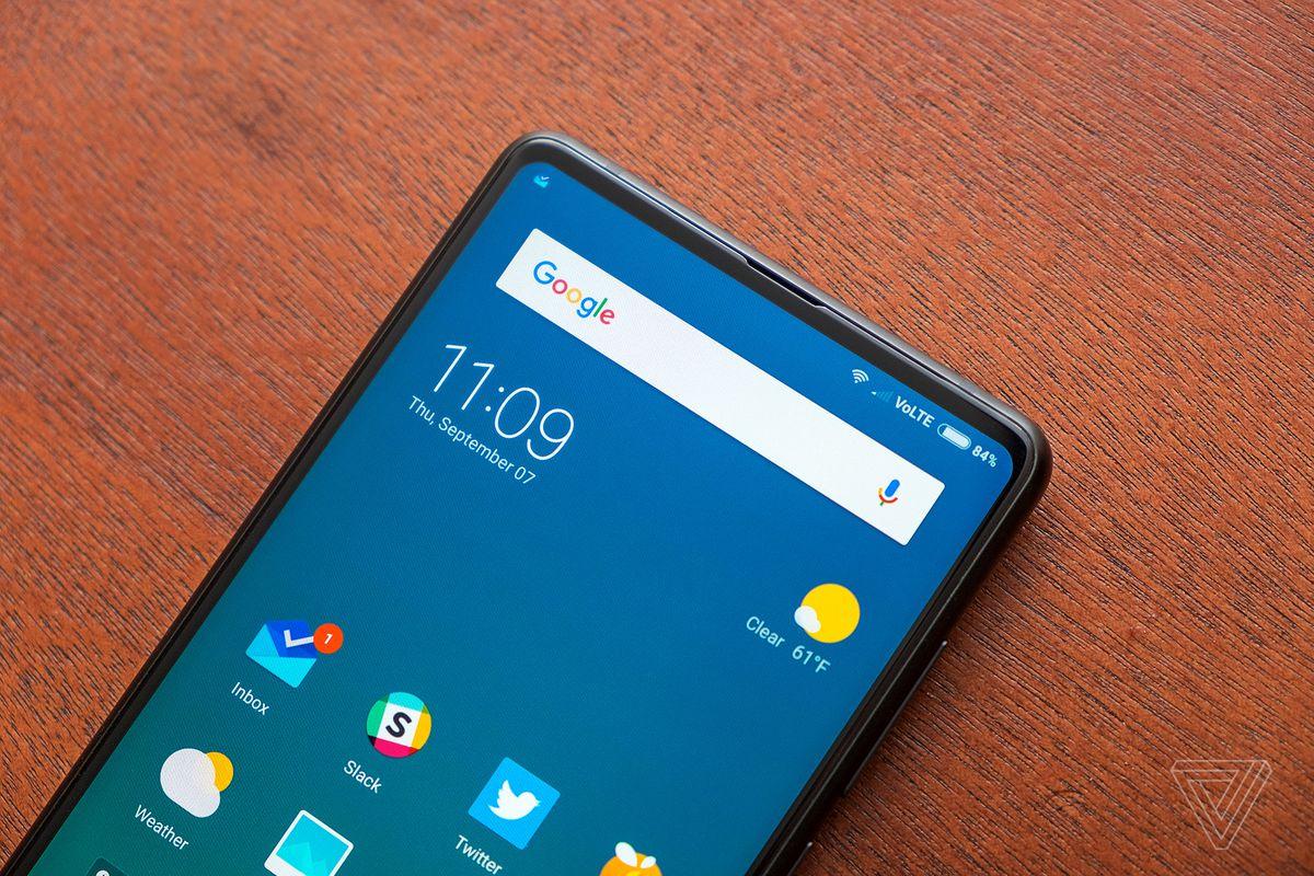0bd3a2f5cef Xiaomi s Mi Mix 2 evolves the full-screen smartphone - The Verge
