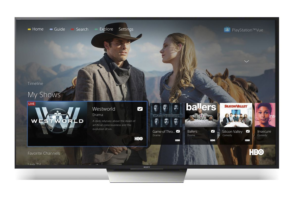 PlayStation Vue on Sony Android TV