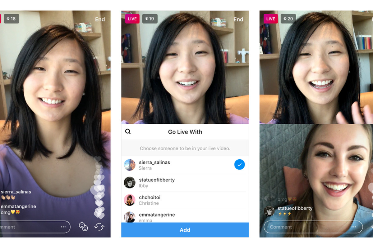 Instagram livestreamers can add a guest to their broadcasts