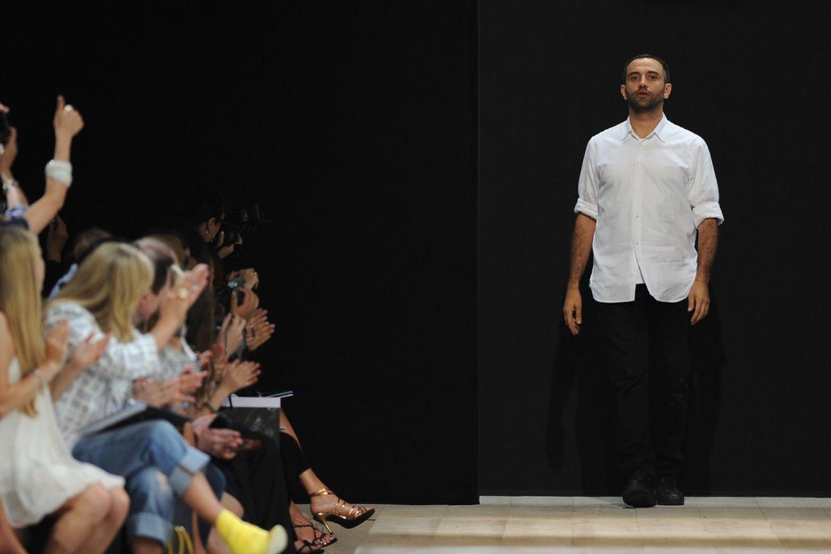 Riccardo Tisci of Givenchy, via Getty