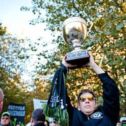 ECS marches to the match with the Cascadia Cup.
