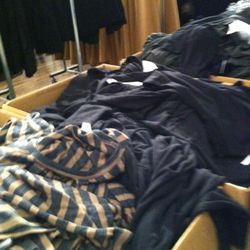 There were tons of bins full of T by Alexander Wang