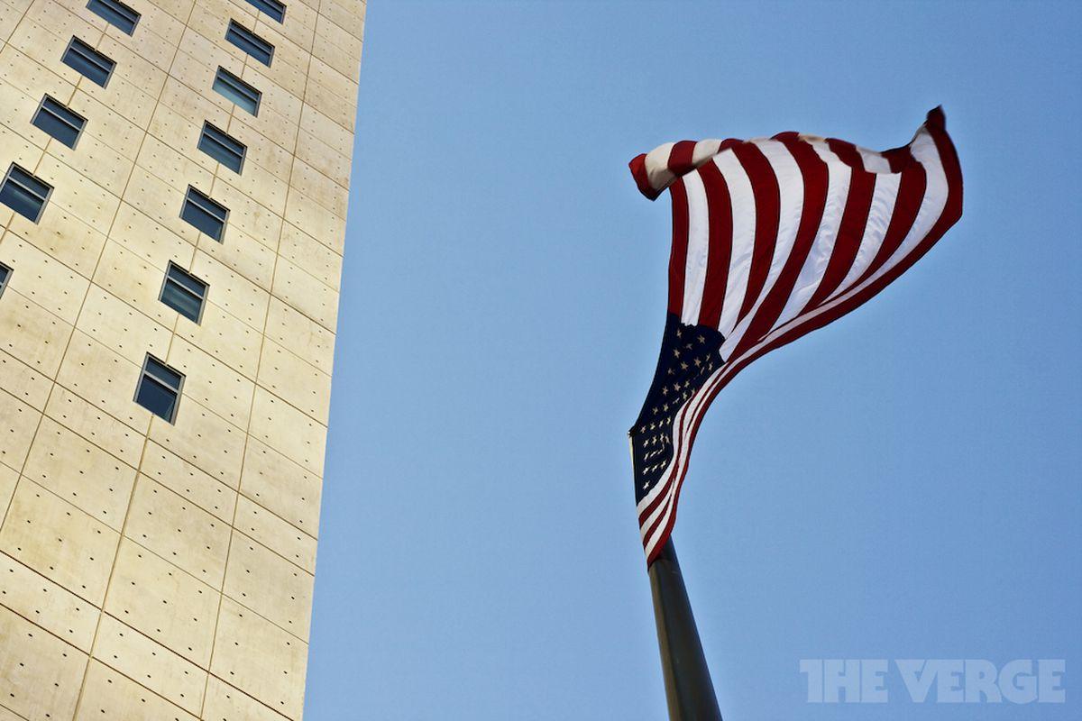 american flag waving stock 1020