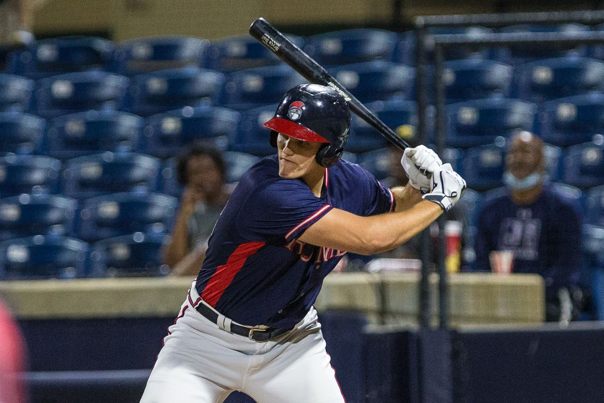 Bryce Ball, Atlanta Braves prospect, takes a swing for the Rome Braves